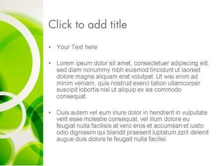 Green Circles Abstract PowerPoint Template, Slide 3, 13534, Abstract/Textures — PoweredTemplate.com