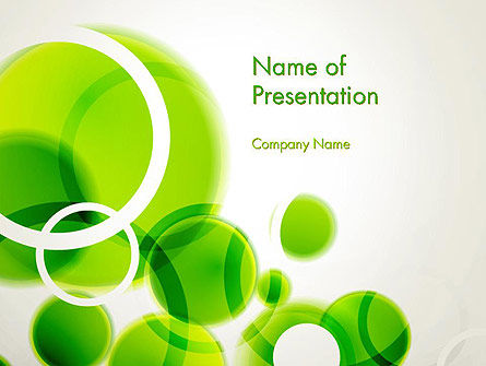 Green Circles Abstract Powerpoint Template, Backgrounds | 13534