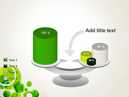 Green Circles Abstract PowerPoint Template Slide 10