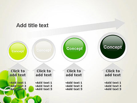 Green Circles Abstract PowerPoint Template Slide 13