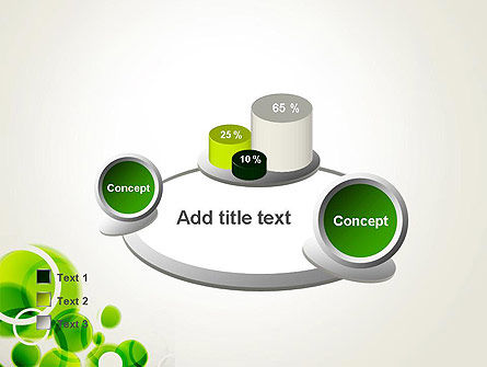 Green Circles Abstract PowerPoint Template Slide 16