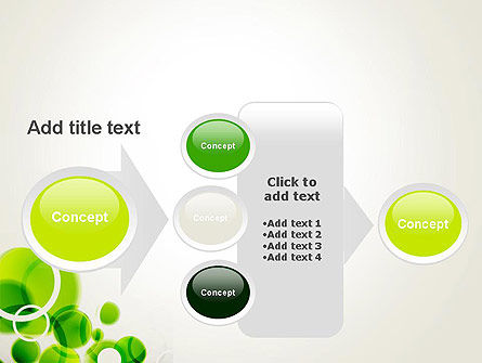 Green Circles Abstract PowerPoint Template Slide 17