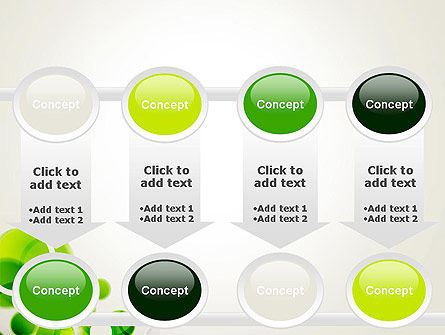 Green Circles Abstract PowerPoint Template Slide 18