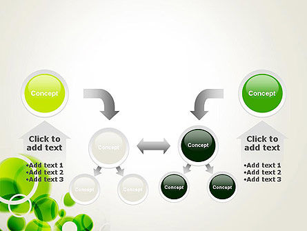 Green Circles Abstract PowerPoint Template Slide 19