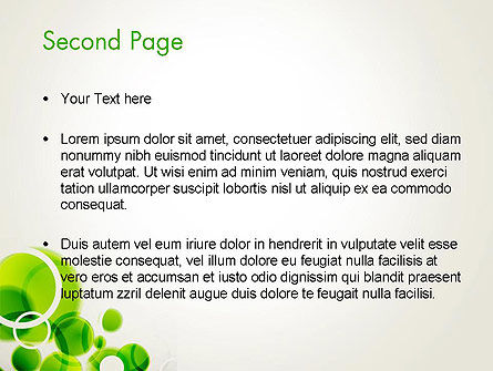 Green Circles Abstract PowerPoint Template Slide 2