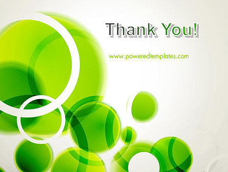 Green Circles Abstract PowerPoint Template Slide 20