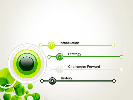 Green Circles Abstract PowerPoint Template Slide 3