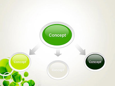 Green Circles Abstract PowerPoint Template Slide 4