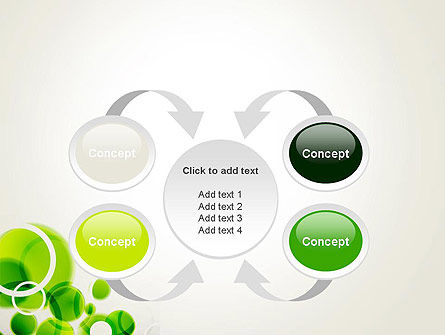 Green Circles Abstract PowerPoint Template Slide 6