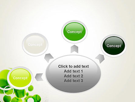 Green Circles Abstract PowerPoint Template Slide 7