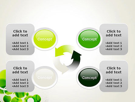 Green Circles Abstract PowerPoint Template Slide 9