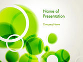 Abstract/Textures: Green Circles Abstract PowerPoint Template #13534
