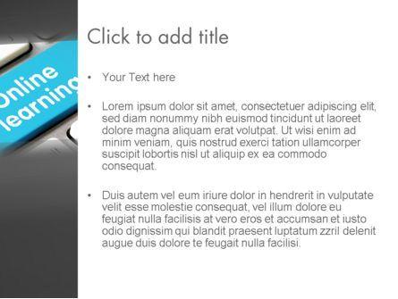 Online Learning Keyboard PowerPoint Template, Slide 3, 13535, Education & Training — PoweredTemplate.com