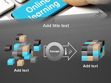 Online Learning Keyboard PowerPoint Template Slide 17