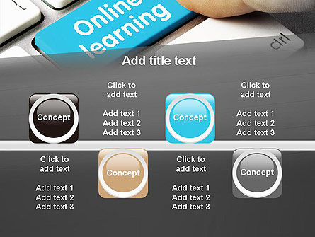 Online Learning Keyboard PowerPoint Template Slide 18