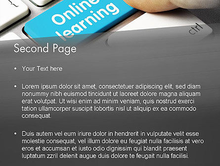 Online Learning Keyboard PowerPoint Template, Slide 2, 13535, Education & Training — PoweredTemplate.com