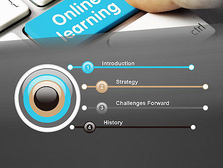 Online Learning Keyboard PowerPoint Template, Slide 3, 13535, Education & Training — PoweredTemplate.com