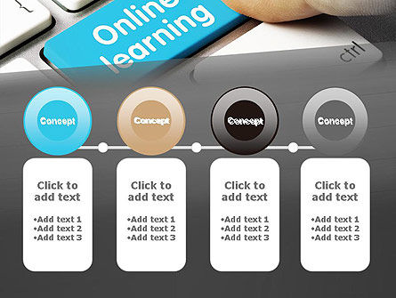 Online Learning Keyboard PowerPoint Template Slide 5