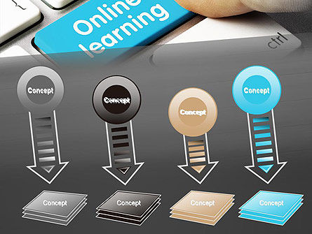 Online Learning Keyboard PowerPoint Template Slide 8
