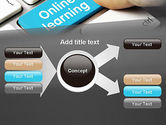 Online Learning Keyboard PowerPoint Template#15