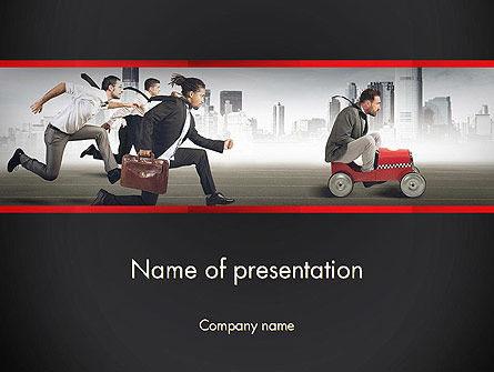 Compete PowerPoint Template, 13538, Education & Training — PoweredTemplate.com