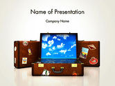 Careers/Industry: Traveling Mood PowerPoint Template #13539
