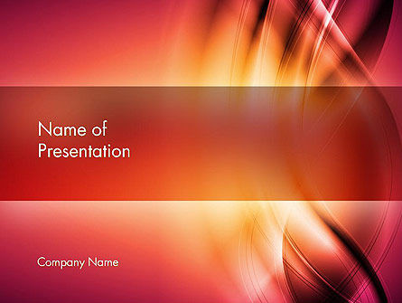 Abstract/Textures: Abstract Wavy PowerPoint Template #13540
