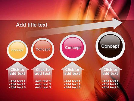 Abstract Wavy PowerPoint Template Slide 13