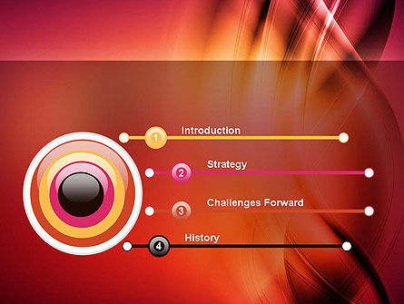 Abstract Wavy PowerPoint Template Slide 3