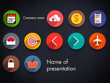 Flat Icons PowerPoint Template, 13542, Careers/Industry — PoweredTemplate.com