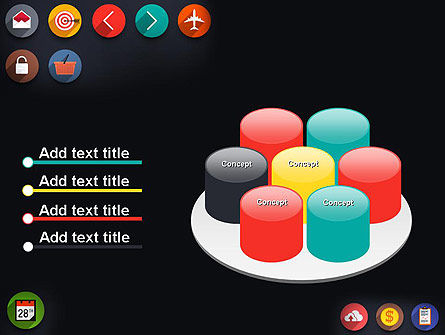 Flat Icons PowerPoint Template Slide 12