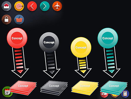 Flat Icons PowerPoint Template Slide 8