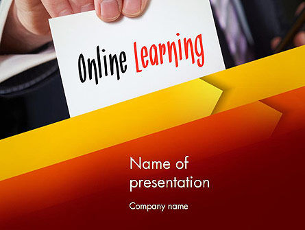 Education & Training: Online Learning Services PowerPoint Template #13543