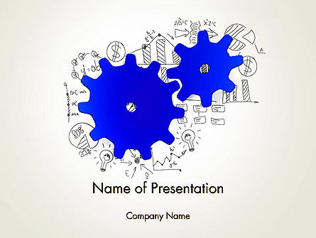 Working Business System Concept PowerPoint Template