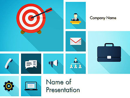 Business: Goal and Mission Concept PowerPoint Template #13550