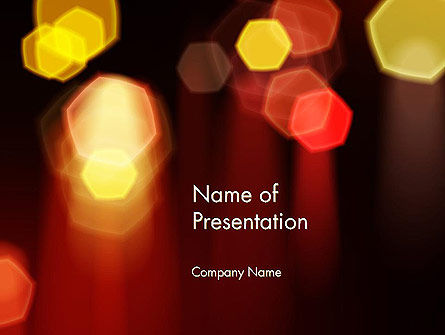 Blurred Car Lights PowerPoint Template