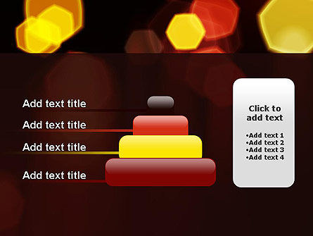 Blurred Car Lights PowerPoint Template Slide 8