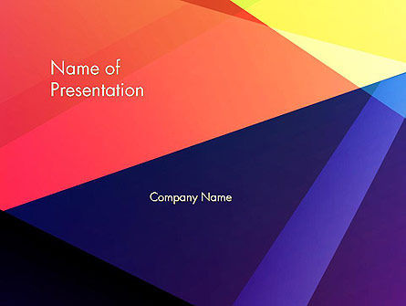 Abstract/Textures: Color Intersection PowerPoint Template #13554