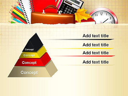 Back to School with School Supplies PowerPoint Template, Slide 4, 13555, Education & Training — PoweredTemplate.com