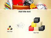 Back to School with School Supplies PowerPoint Template#13