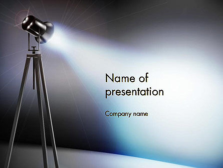Spot Lighting On The Stage PowerPoint Template, 13556, Careers/Industry — PoweredTemplate.com