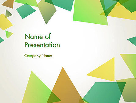 Abstract/Textures: Geometric Patches Abstract PowerPoint Template #13557