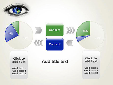Globe in an Eye PowerPoint Template Slide 16