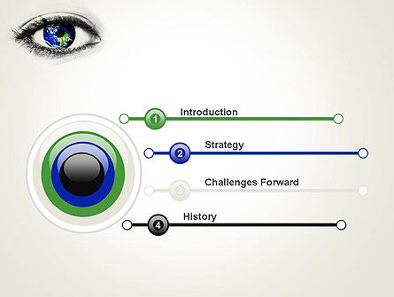 Globe in an Eye PowerPoint Template, Slide 3, 13558, Global — PoweredTemplate.com