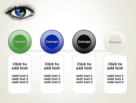 Globe in an Eye PowerPoint Template Slide 5