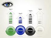 Globe in an Eye PowerPoint Template#7