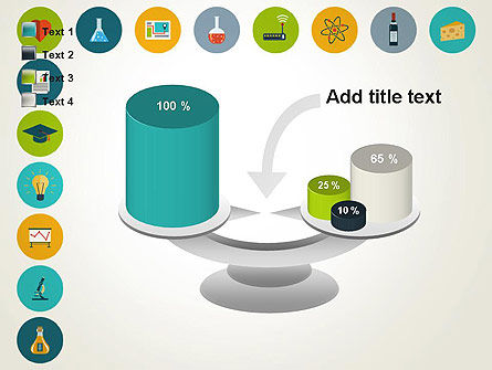 Flat Design Round Icons PowerPoint Template Slide 10
