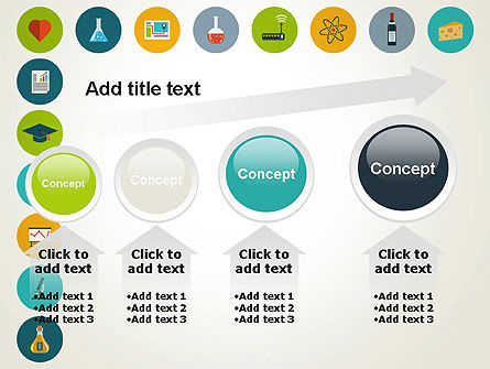 Flat Design Round Icons PowerPoint Template Slide 13