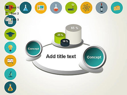 Flat Design Round Icons PowerPoint Template Slide 16
