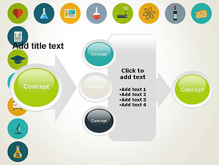 Flat Design Round Icons PowerPoint Template Slide 17
